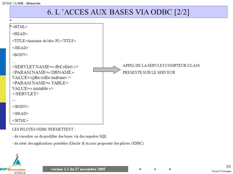 6. L 'ACCES AUX BASES VIA ODBC [2/2]